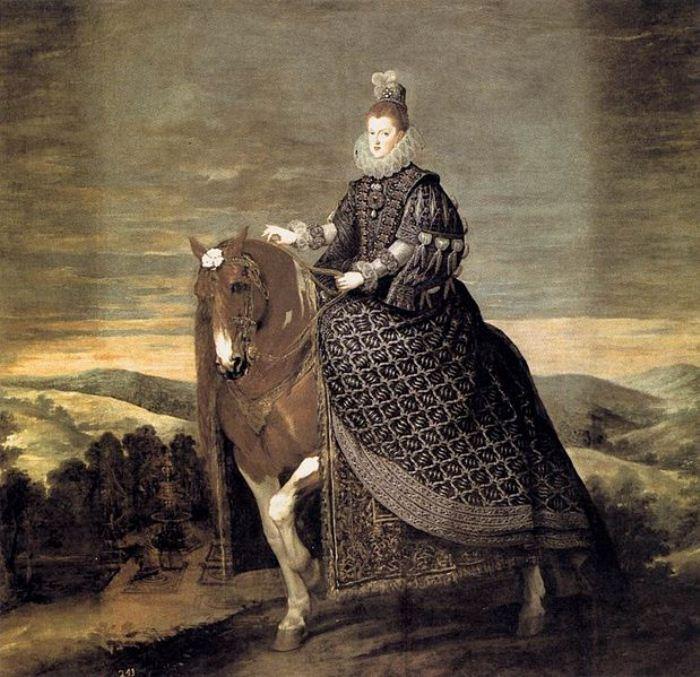 Портрет Маргариты Австрийской. Художник - Диего Веласкес, 1634 г.