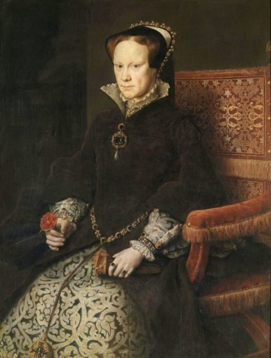 Портрет Марии I. Художник - Антонис Мор, 1554 г.