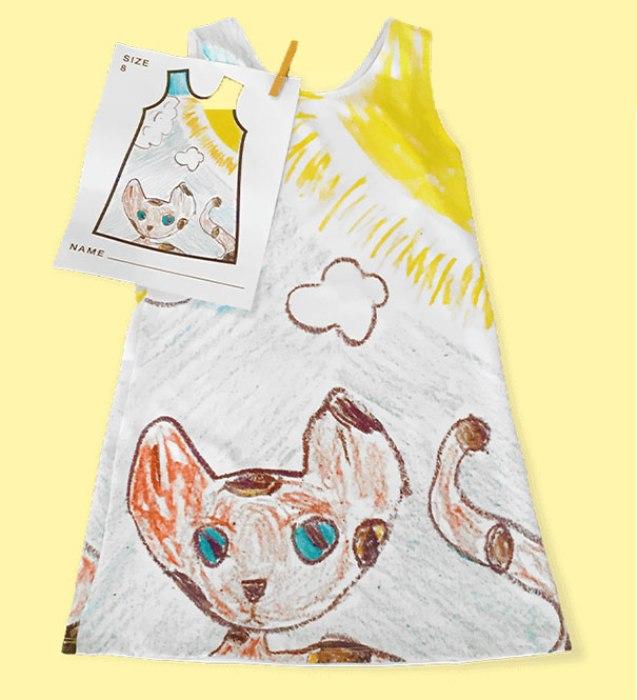 Эскиз для детского платья