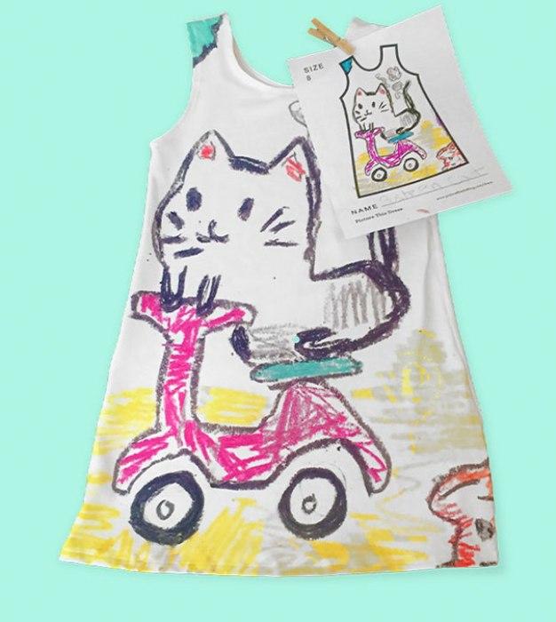 Милый рисунок для детского платья