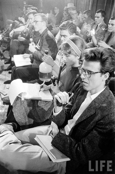 Фото из архива журнала LIFE, сделанные на конкурсе курильщиков в 1959 году