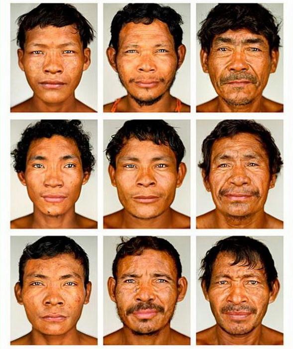 Портреты мужчин народности пираха