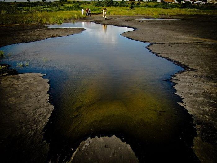 Асфальтовое озеро Пич-Лейк в Тринидаде