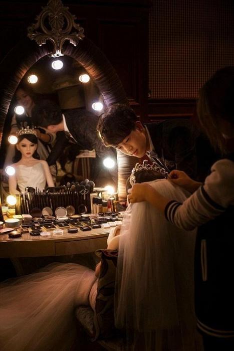 Кукольная подготовка к церемонии