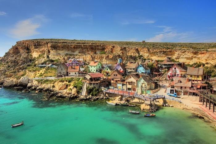 Деревня Попая на острове Мальта