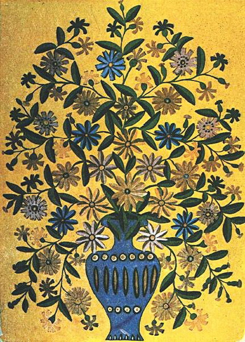 Васильки в синей вазе