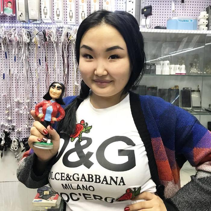 В Якутии можно найти кукол-двойников Анжелики Протодьяконовой.