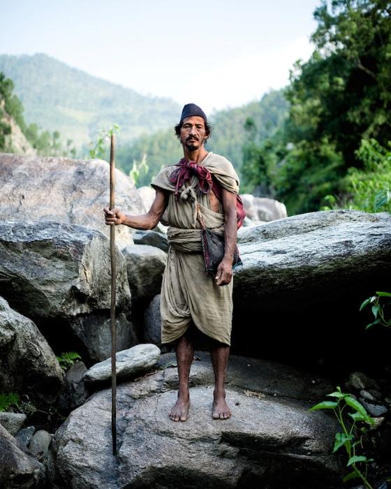 Мужчина из племени рауте