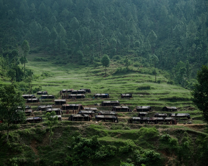 Поселение кочевого племени рауте