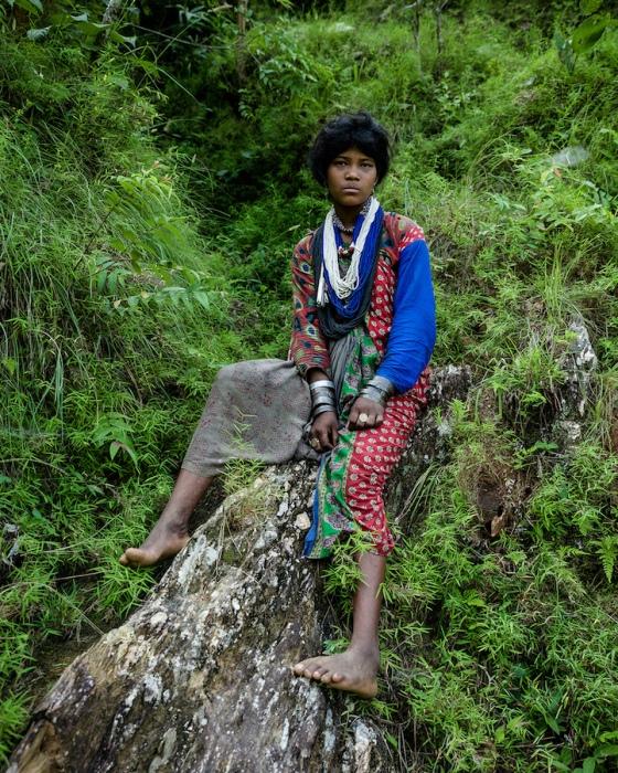 Женщина из племени рауте