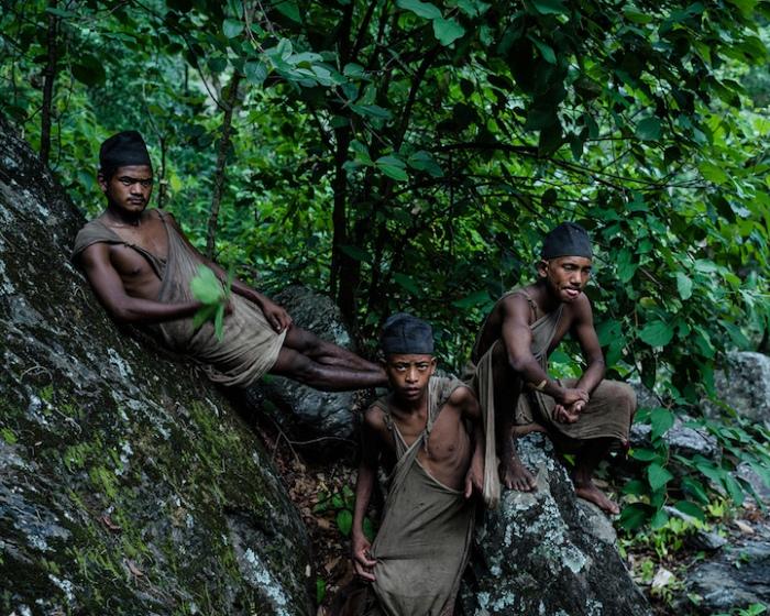 Мужчины из племени рауте