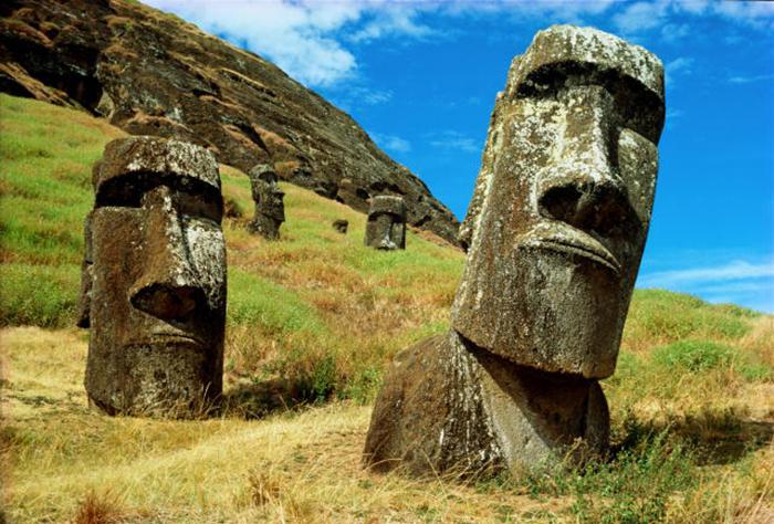 Загадочные статуи с острова Пасхи.
