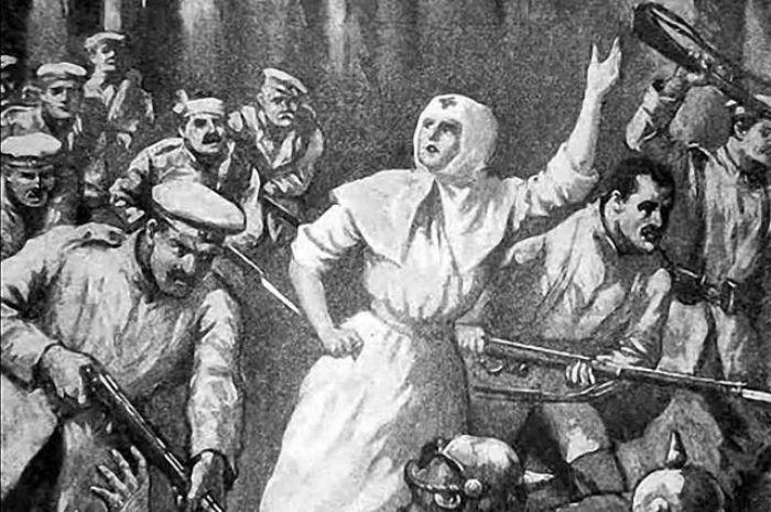 Святая Римма ведет за собой солдат в бой | Фото: en.wikipedia.org