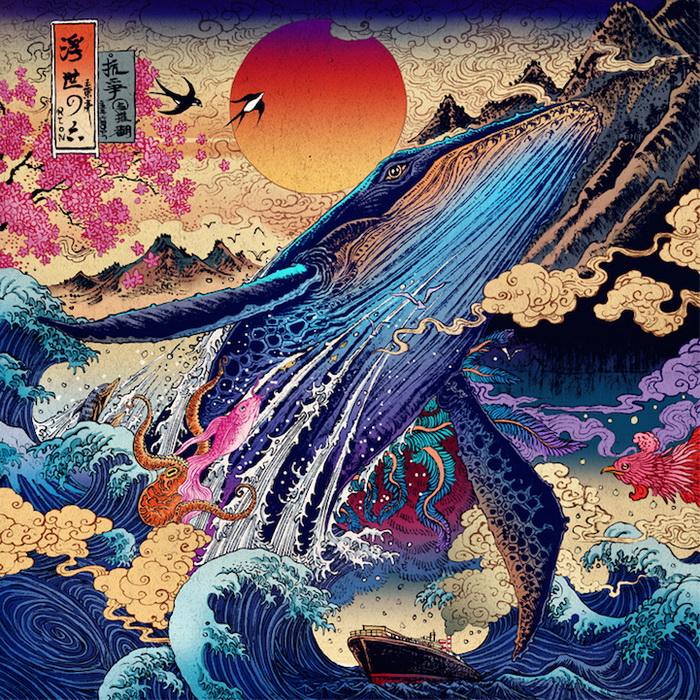 Яркие и эмоциональные рисунки от RLoN Wang в традициях восточноазиатской живописи