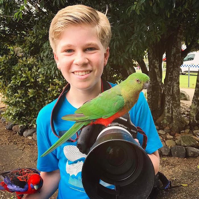 Роберт Ирвин с детства привык к общению с дикой природой.