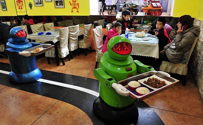 Ресторан роботов в Харбине (Китай)