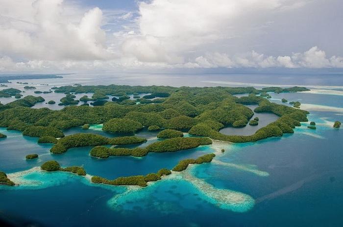 Скалистые острова Палау входят в Список объектов всемирного наследия ЮНЕСКО