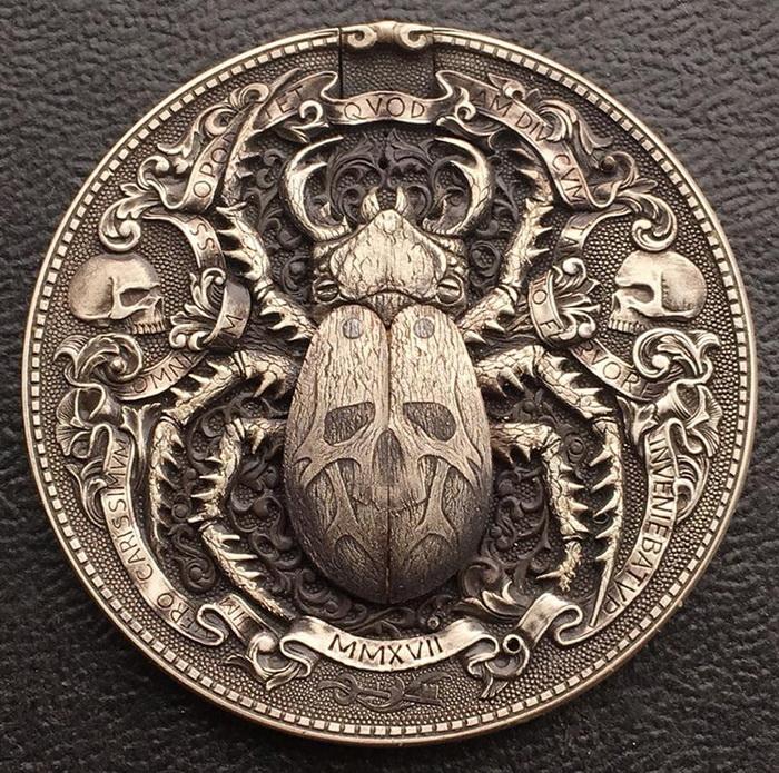 Монета в технике хобо никель.