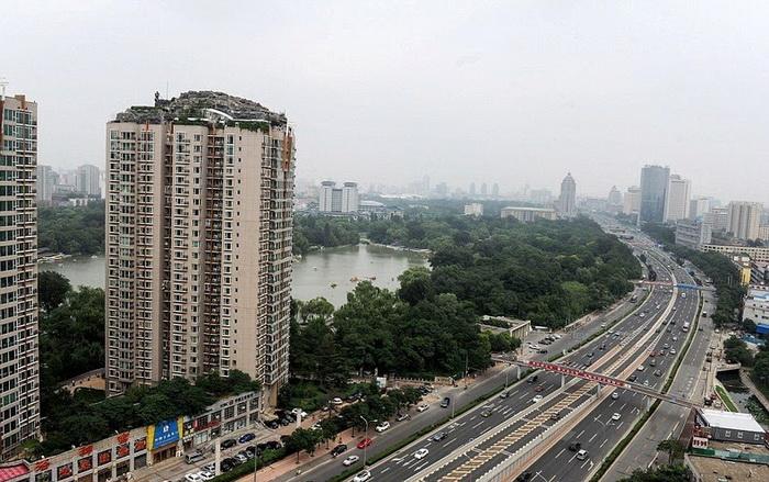 Горная вилла появилась на одной из улиц Пекина