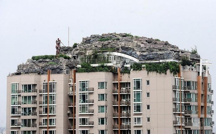 Горная вилла на крыше многоэтажки