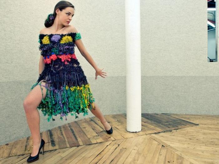 Одно из первых платьев, созданных дизайнером Маргаритой Милевой