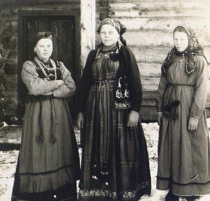 Женщины из Русского Устья.