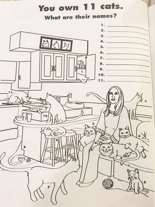 Задание: напиши имена своих 11 котов