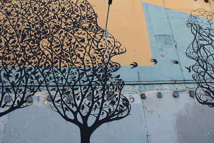 Лаконичный стрит-арт от уличного художника Sam3