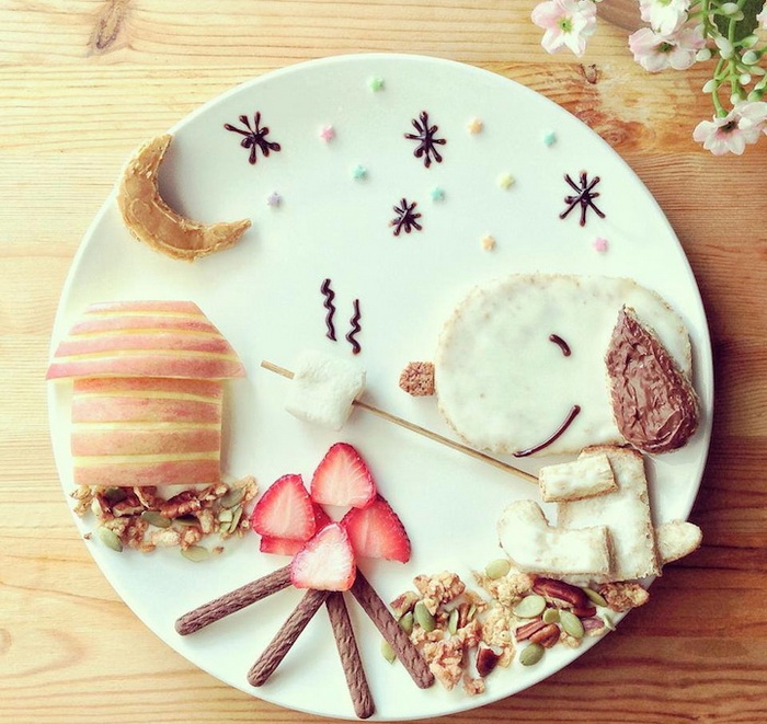 Рисунки от еды от Саманты Ли (Samantha Lee)