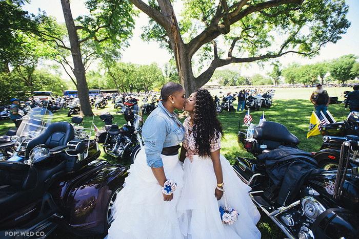 Свадьба крутых байкерш