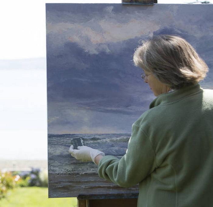 Сэнди Байерс (Sandy Byers) и ее картины, нарисованные кредиткой