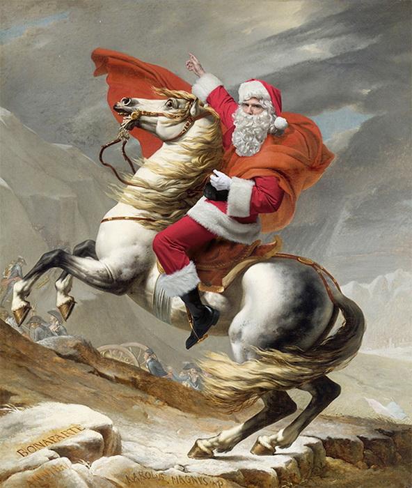 Санта Клаус в образе Наполеона