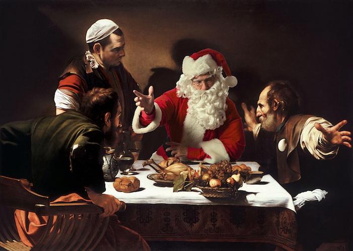 Santa Classics: Санта Клаус на классических картинах