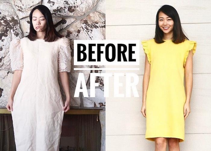 До и после: невероятная трансформация одежды от дизайнера Sarah Tyau.