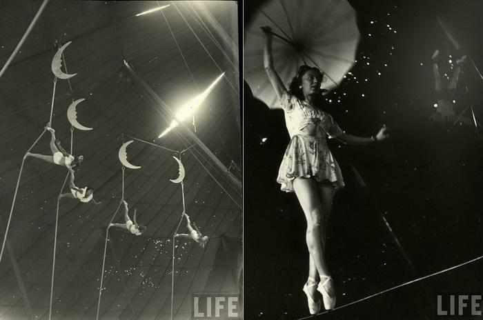 Ретро-фотографии из цирка в Сарасоте (Флорида, США)