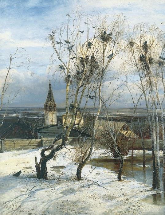Алексей Саврасов, Грачи прилетели, 1871