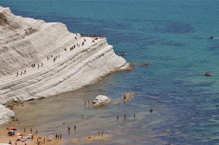 Scala dei Turchi - необычный пляж в Сицилии (Италия)