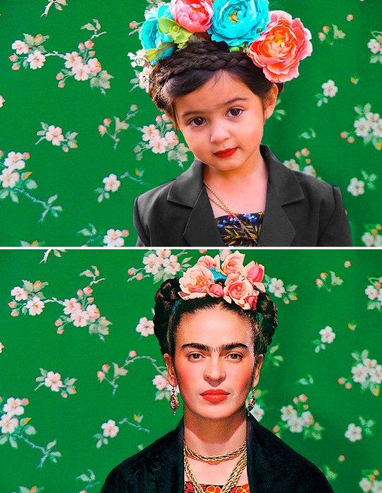 Мексиканская художница Фрида Кало и Скаут.