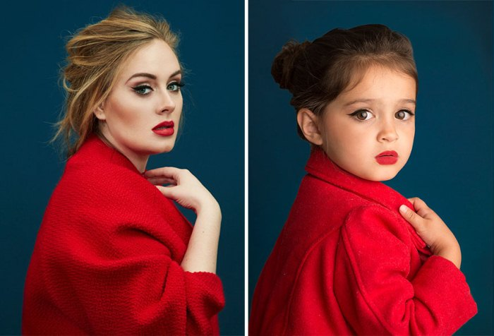 Певица Адель и Скаут: трехлетняя малышка снялась в образах известных женщин