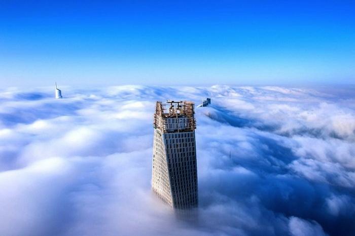 Дубай в тумане. Серия фоторабот Sebastian Opitz