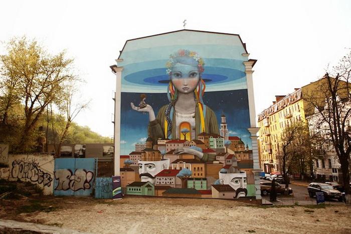 Патриотичный стрит-арт от Кислова и Сета Глоубпеинтера