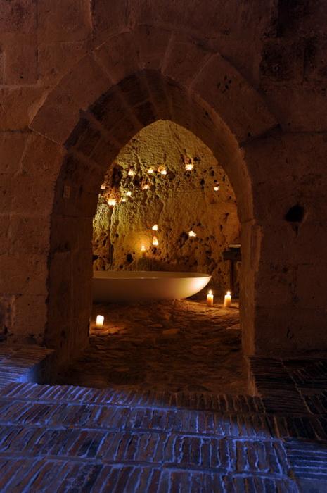 Гостиница Sextantio Le Grotte Della Civita в Матере (Италия)