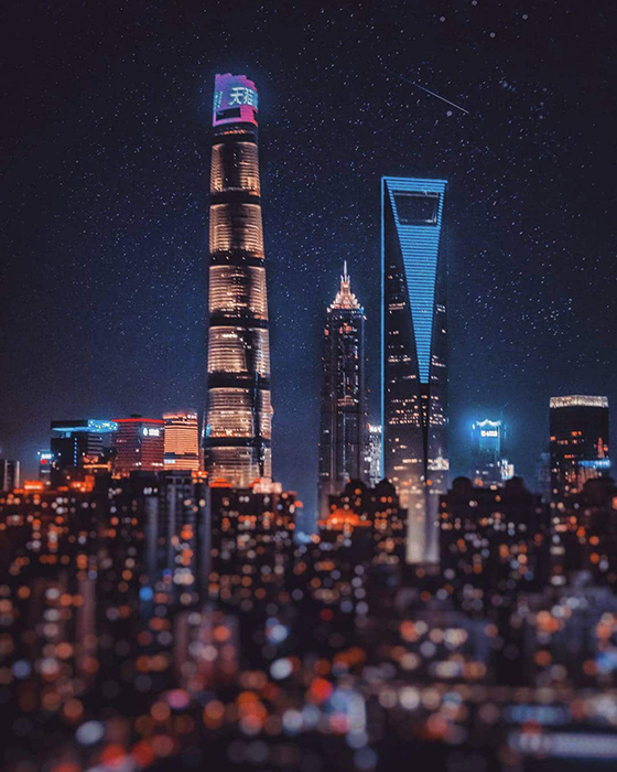 Небоскребы Шанхая.