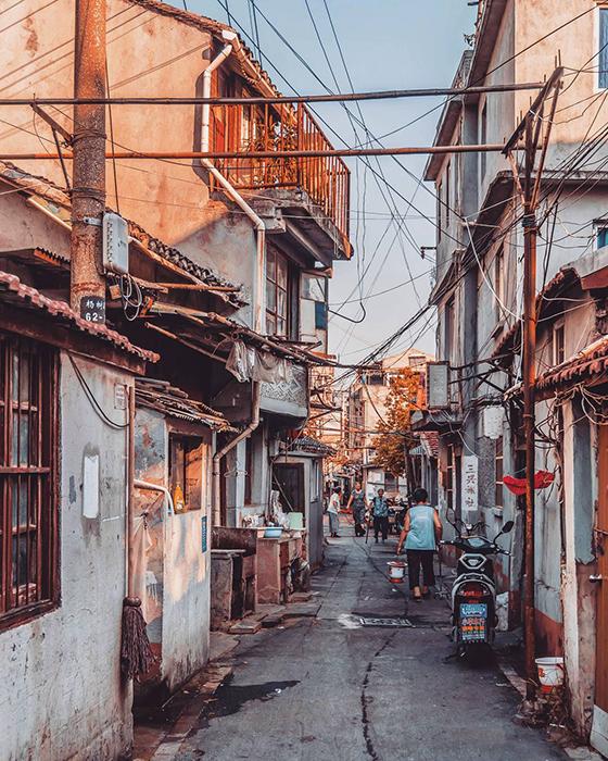 Старинные улочки Шанхая.