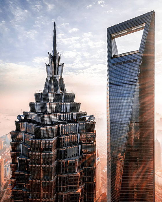 Современная архитектура Шанхая.