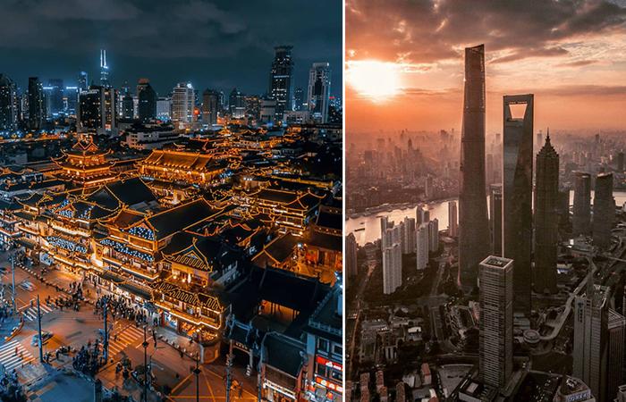 Фотографии Шанхая, сделанные при помощи дрона.
