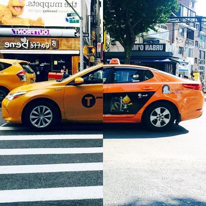 Фирменное оранжевое такси
