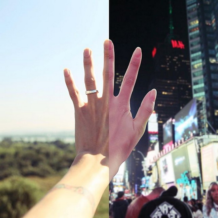 Фотоколлаж о любви на расстоянии