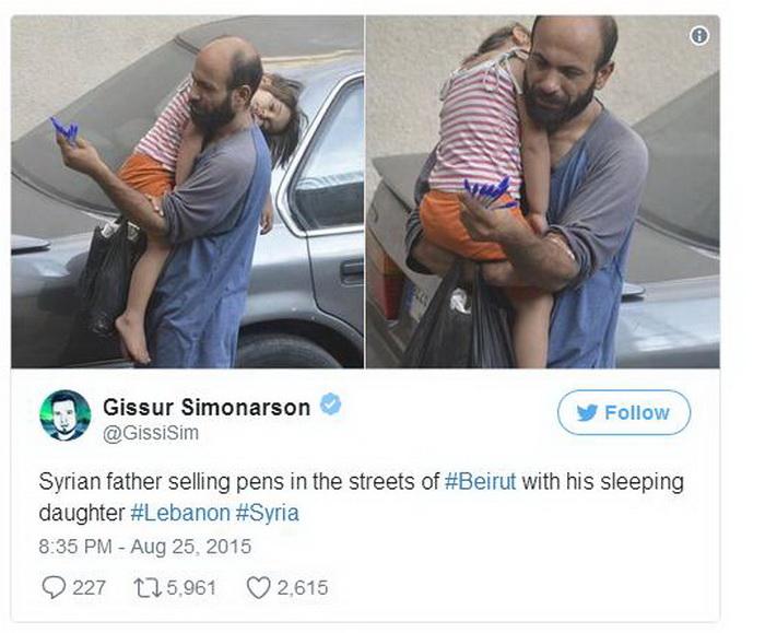 Пост в социальной сети, с которого началась история спасения семьи Аттара.