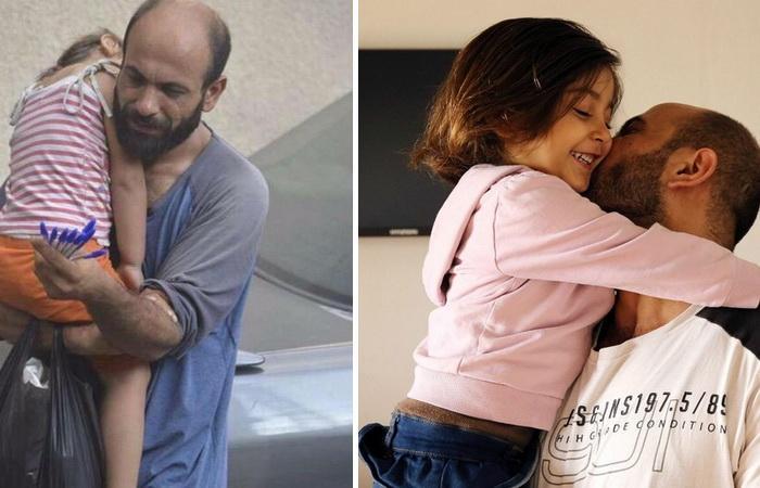 Абдул Халим аль-Аттар с дочерью. Невероятная история спасения.